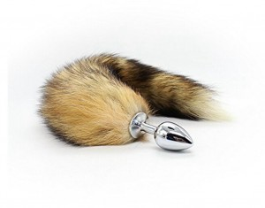 Anaal Plug met zachte Wild Fox staart RVS anale Stimulator voor vrouwen