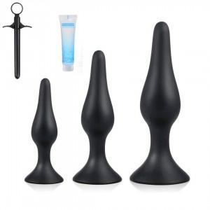 5st siliconen Butt Plug anaal Plug Set anale seks speelgoed Kit voor Beginner