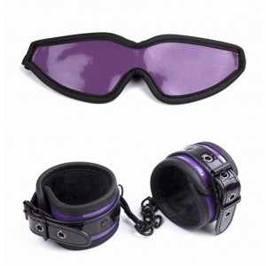 Bondage Boutique Temptation Soft Blindfold and Handcuffs Kit for beginner