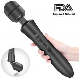 Krachtige batterij bediende handgreep AV Wand Massager Clitoris stimuleren voor koppels
